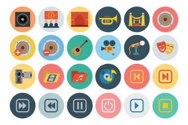 Multimedia Flat Icons 3