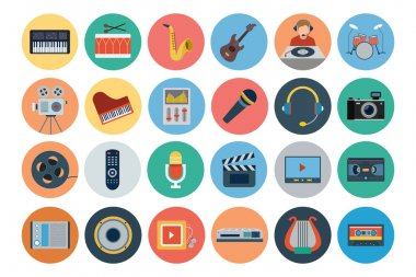 Multimedia Flat Icons 1