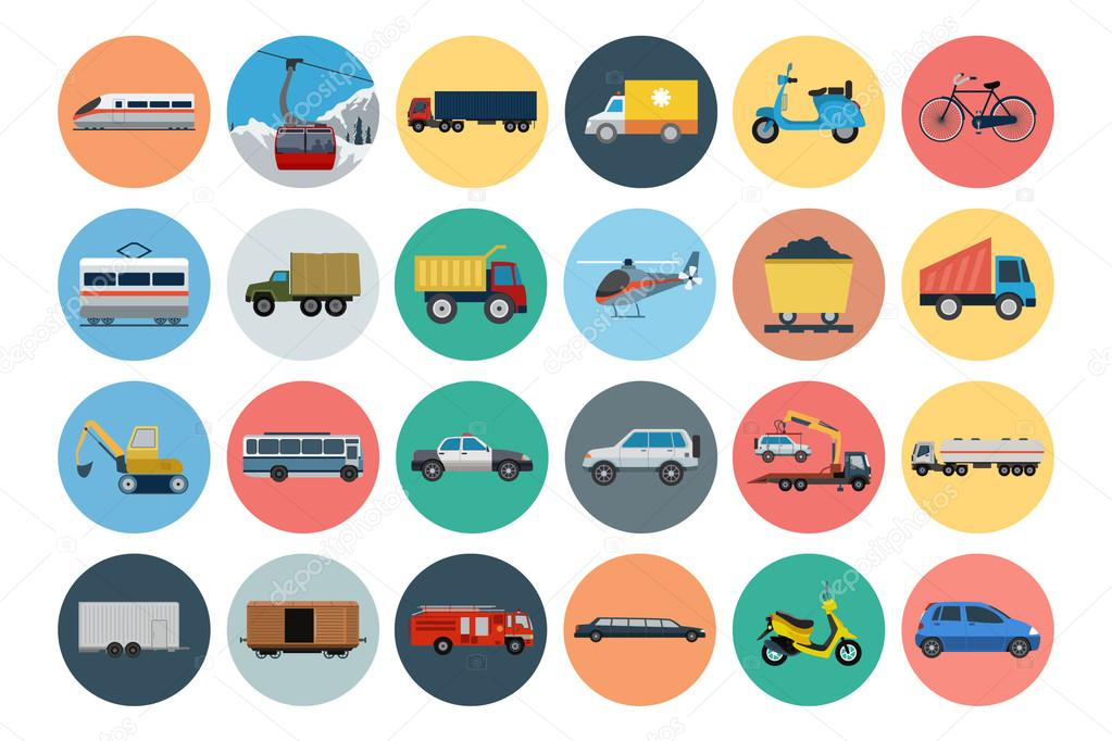 Flat Transport Icons 3