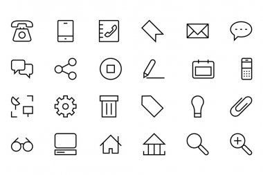 Internet Vector Line Icons 1