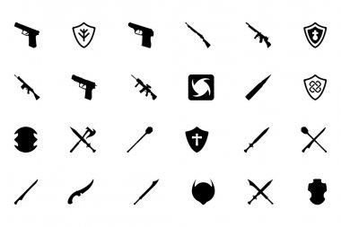 Weapons Vector Icons 4