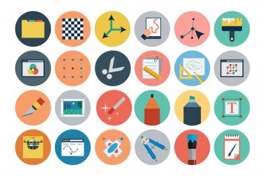 A neat collection of Flat Design vector icons that you can easily integrate in your design and the cool thing is, that there are so many of them, you will definitely find something you need in here. stock vector