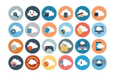 Cloud Computing Flat Vector Icons 2
