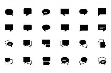 Chat Massages Vector Icons 2