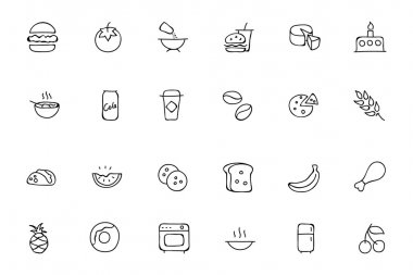 Food Hand Drawn Outline Vector Icons 3