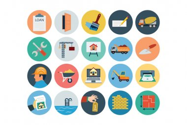 Flat Real Estate Vector Icons 3
