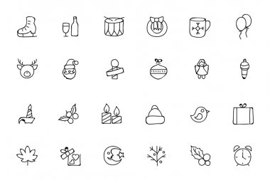 Christmas Hand Drawn Vector Icons 4