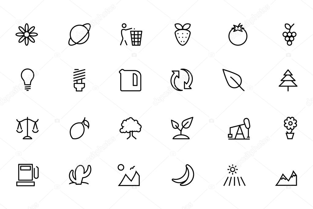 Nature and Ecology Line Vector Icons 2