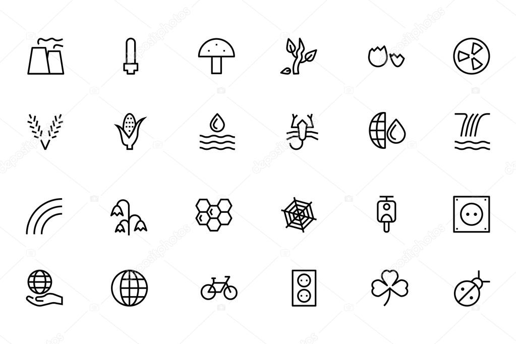 Nature and Ecology Line Vector Icons 4