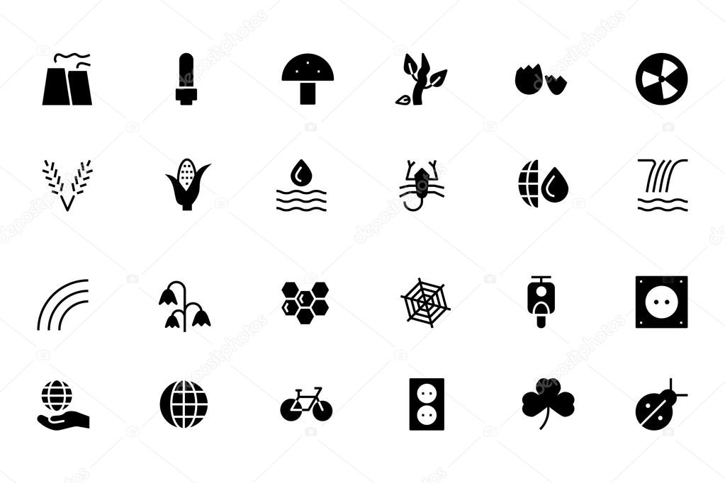 Nature and Ecology Vector Icons 4