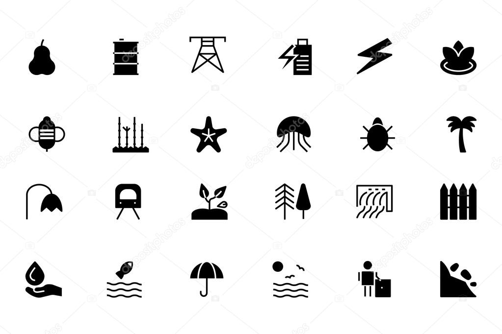 Nature and Ecology Vector Icons 5