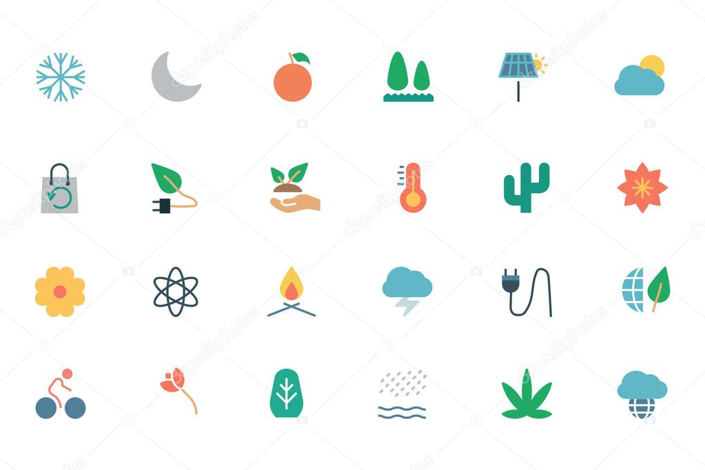 Nature and Ecology Colored Icons 3
