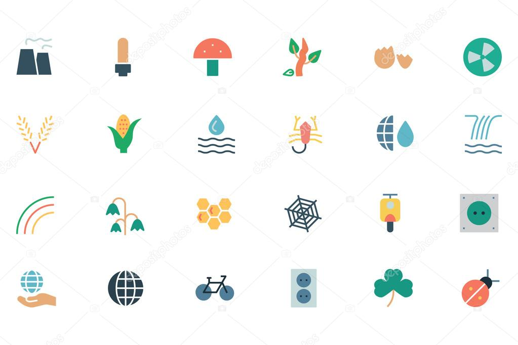 Nature and Ecology Colored Icons 4