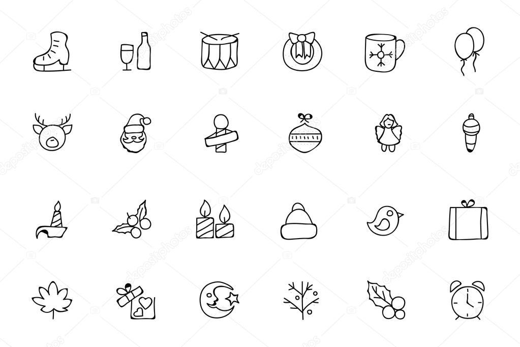 Christmas Hand Drawn Vector Icons 4