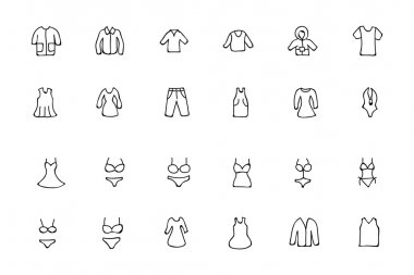 Clothes Hand Drawn Doodle Icons 1