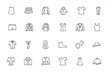 Clothes Hand Drawn Doodle Icons 4