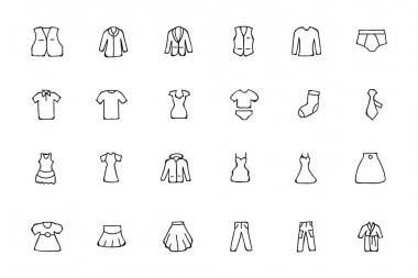 Clothes Hand Drawn Doodle Icons 2