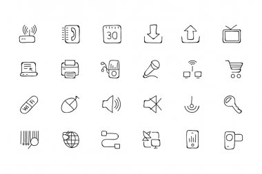 Communication Hand Drawn Vector Icons 2