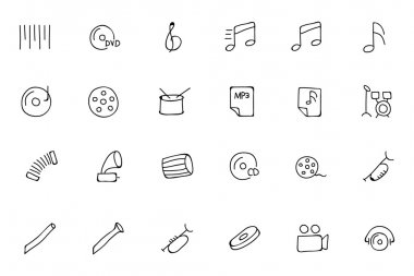 Music Hand Drawn Doodle Icons 2