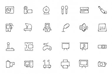 Music Hand Drawn Doodle Icons 4