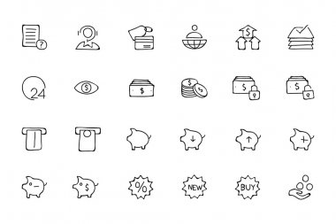 Finance Hand Drawn Doodle Icons 10