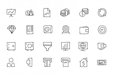 Finance Hand Drawn Doodle Icons 3