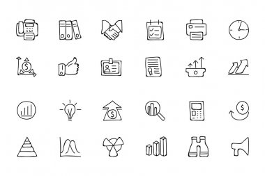 Finance Hand Drawn Doodle Icons 4