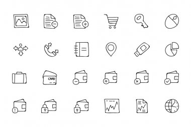Finance Hand Drawn Doodle Icons 5