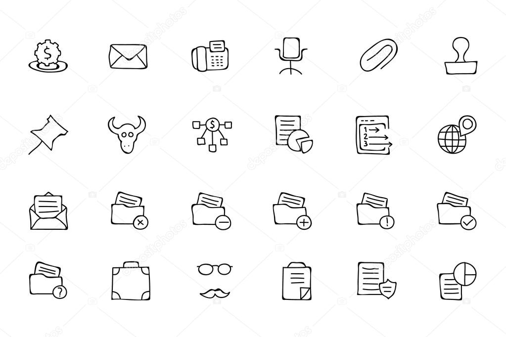 Finance Hand Drawn Doodle Icons 8