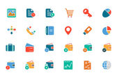 Banking and Finance Colored Vector Icons 5