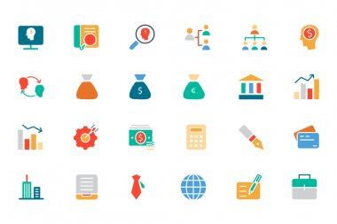 Banking and Finance Colored Vector Icons 1
