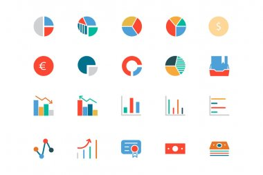 Banking and Finance Colored Vector Icons 11