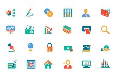 Banking and Finance Colored Vector Icons 6