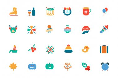 Christmas Colored Vector Icons 4