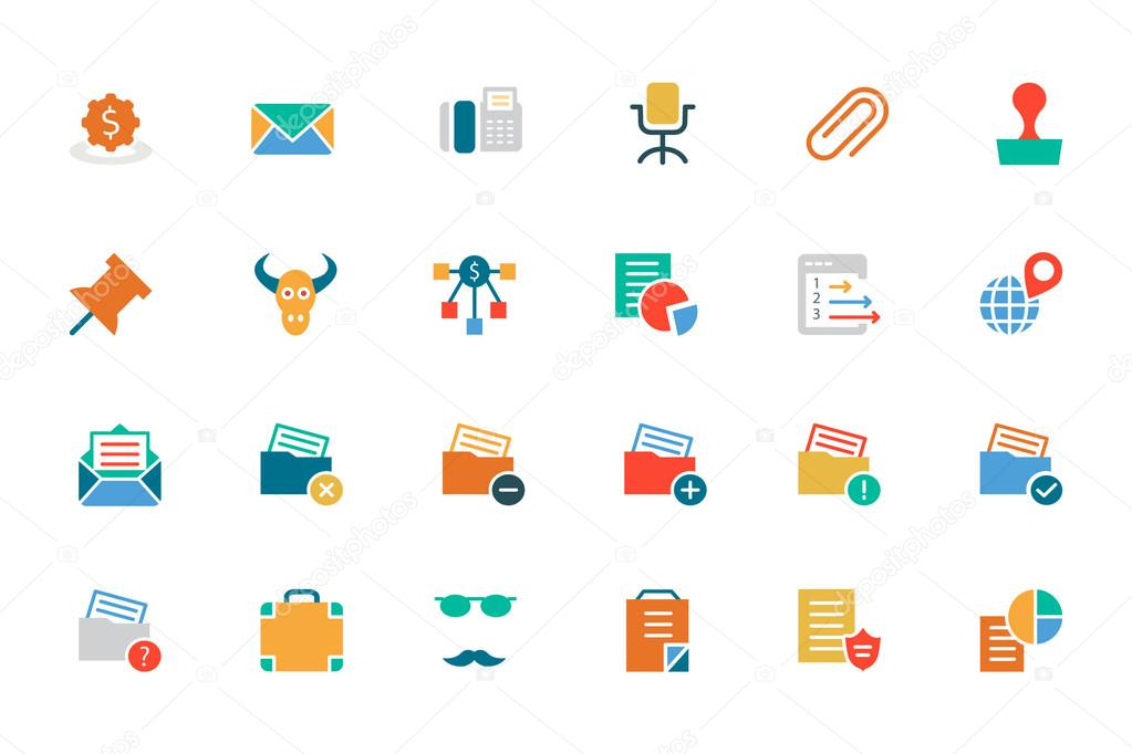 Banking and Finance Colored Vector Icons 8