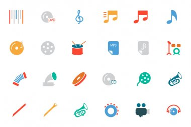 Music Colored Vector Icons 2