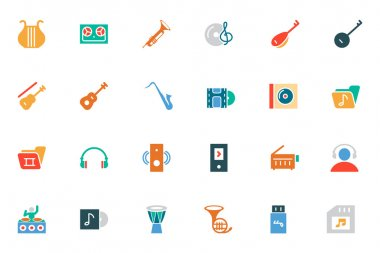 Music Colored Vector Icons 3