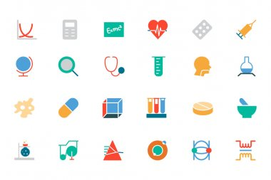 Science Colored Vector Icons 2