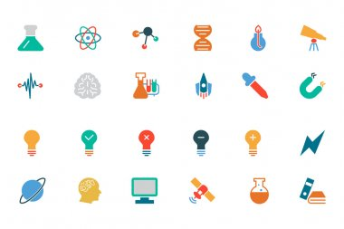 Science Colored Vector Icons 1