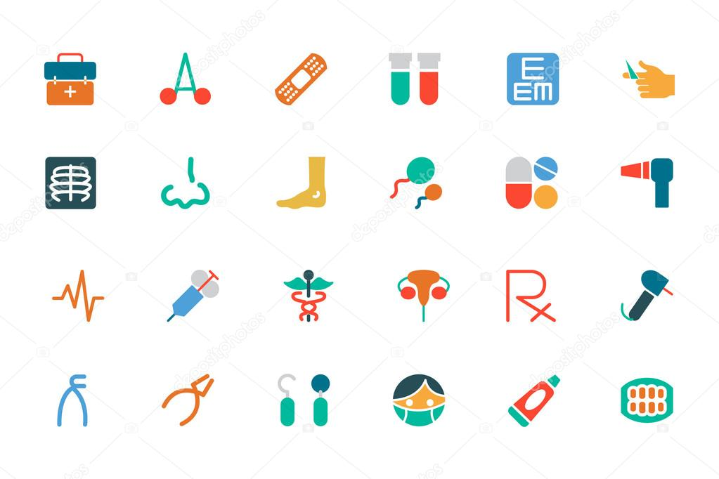 Medical Colored Vector Icons 4