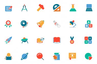 Education Colored Vector Icons 2
