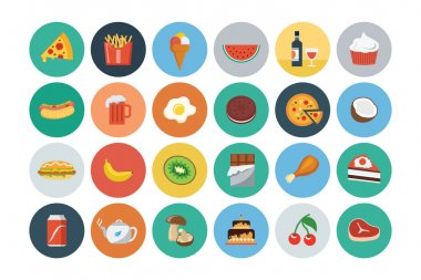 Food Flat Vector Icons 2