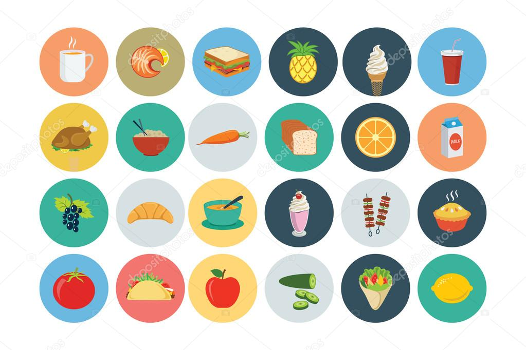 Food Flat Vector Icons 3