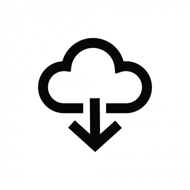Cloud Downloading Vector Icon