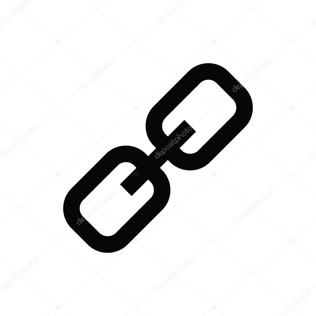 chain link vector icon � stock vector 169 educester 80564842