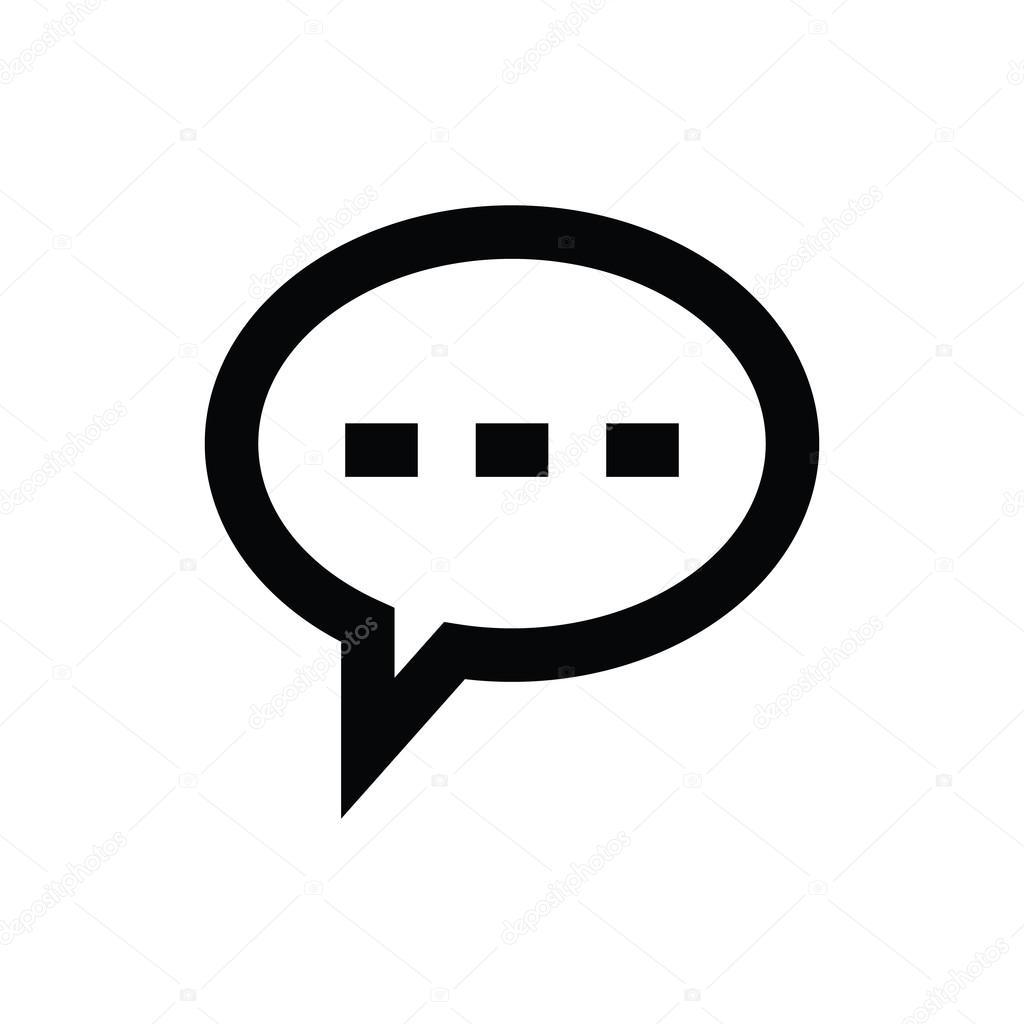 speech bubble vector icon stock vector creativestall 80566314 rh depositphotos com speech bubble vector png speech bubble vector png