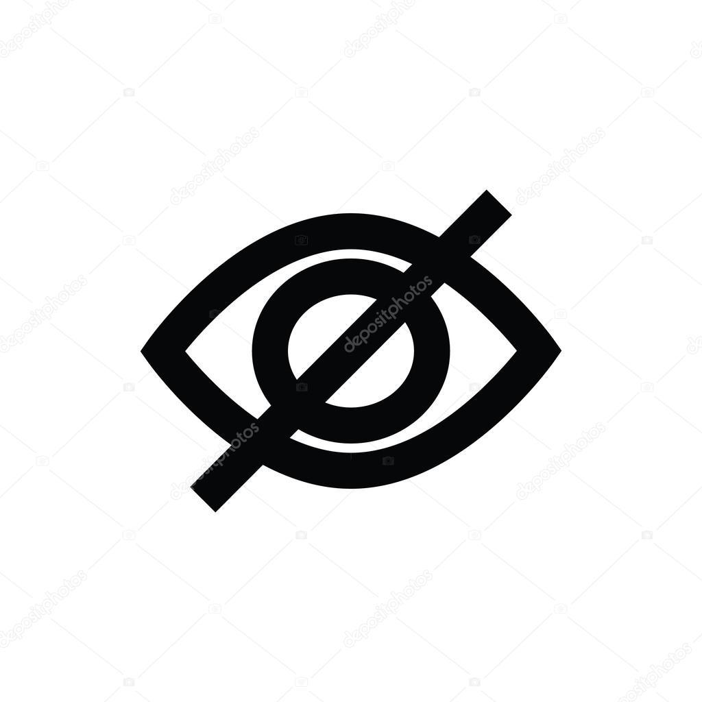 Invisible Vector Icon Stock Vector Creativestall 80593610