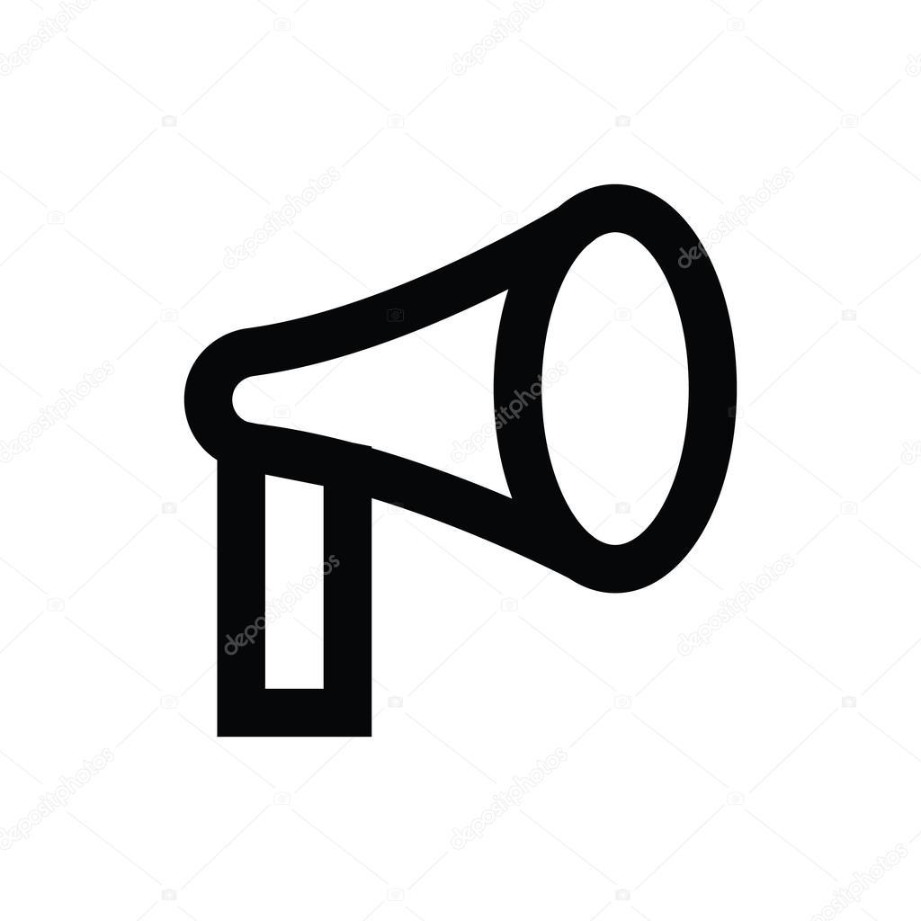 megaphone vector icon stock vector creativestall 80609596 rh depositphotos com