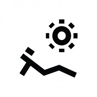 Sunbathing Vector Icon