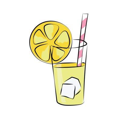 Lemonade Colored Sketchy Vector Icon